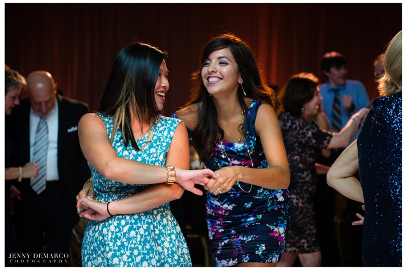 Guests enjoyed music from live DJ Byrne Rock on the dancefloor in the main ballroom at the formal reception.