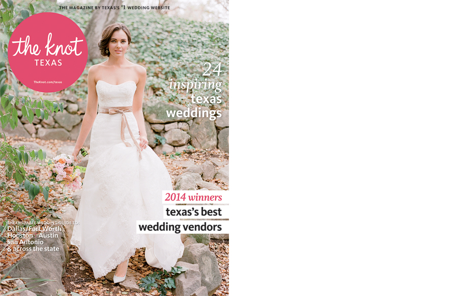 The Knot Texas Magazine cover featuring a real wedding at the Four Seasons Hotel.