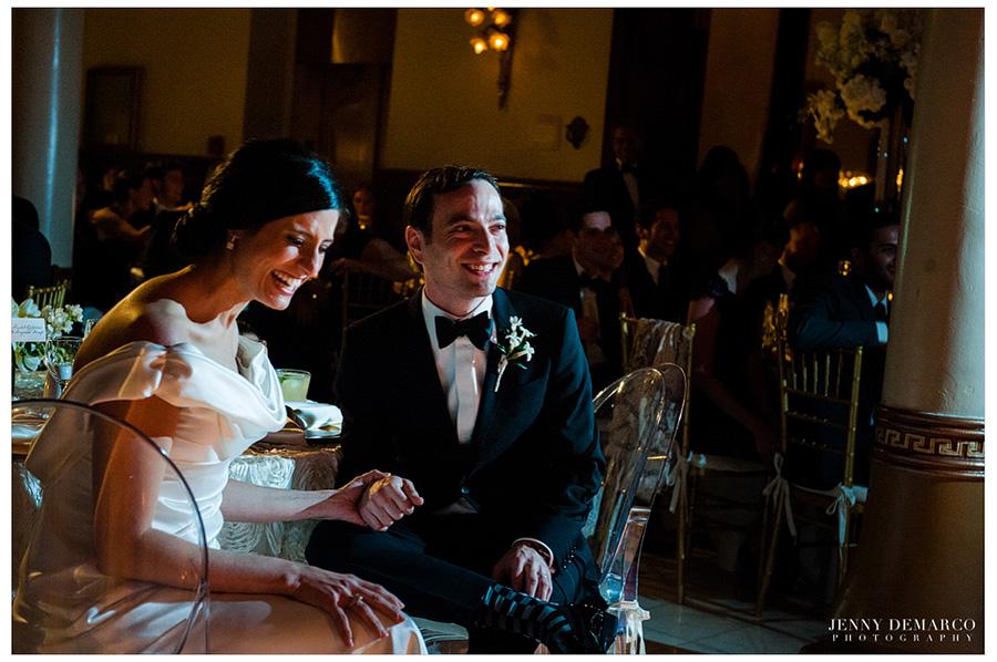 Rachel and Ben's reception celebration of their spring jewish wedding.