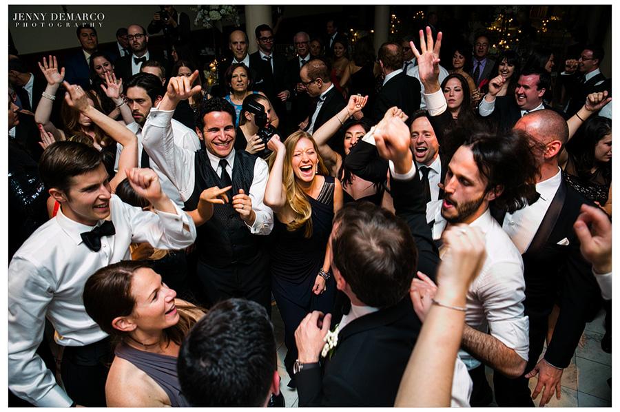 Jewish wedding reception at the Driskill Hotel in Austin, TX.
