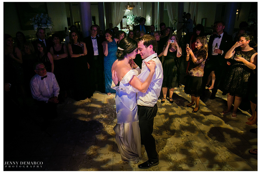 Rachel and Ben's first dance as a married couple at their reception.