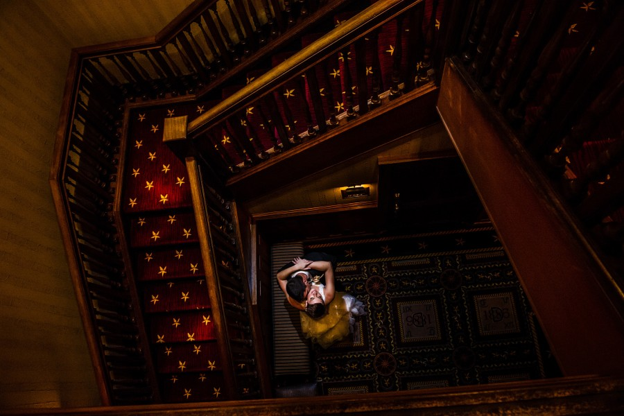 Austin best wedding photographers at the Driskill Hotel.