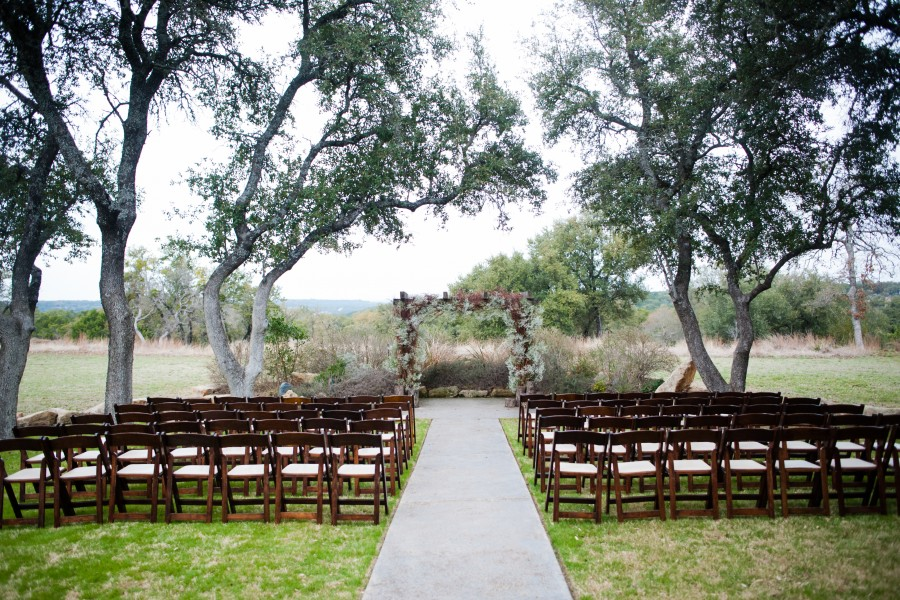 Ceremony site at Vista West Ranch.