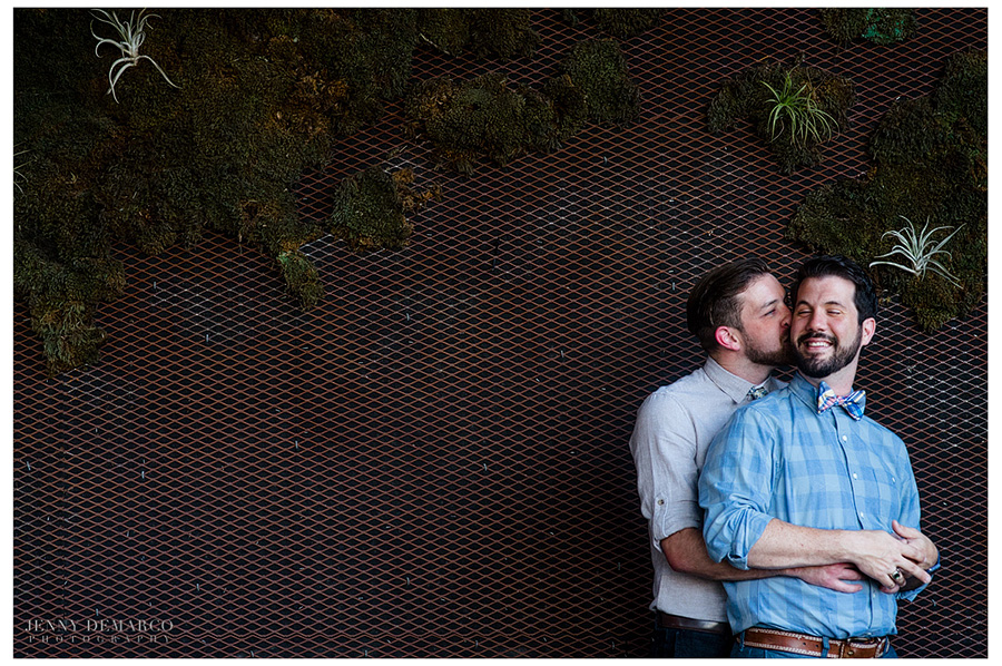 Cute gay couple engagement session in downtown austin.
