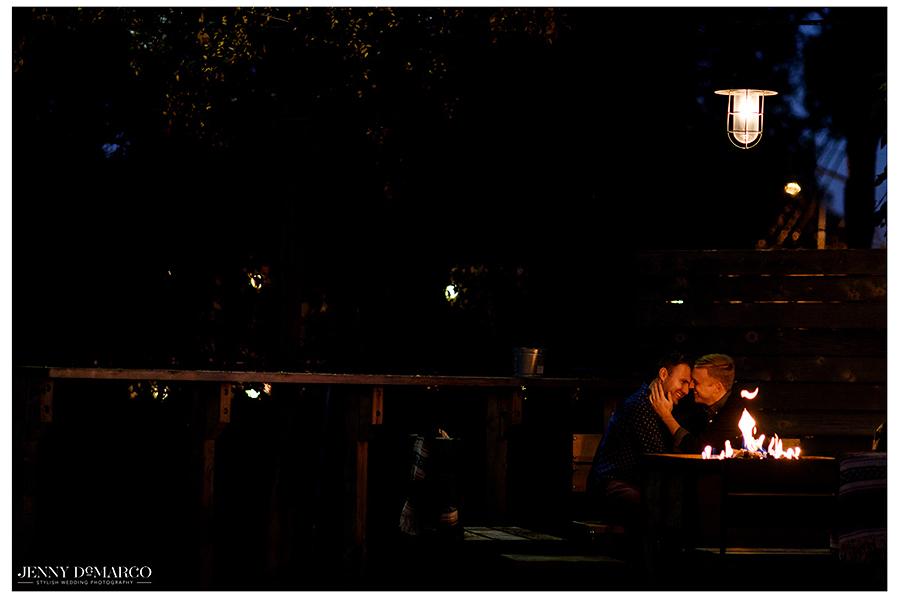Gay Austin couple at Contigo restaurant