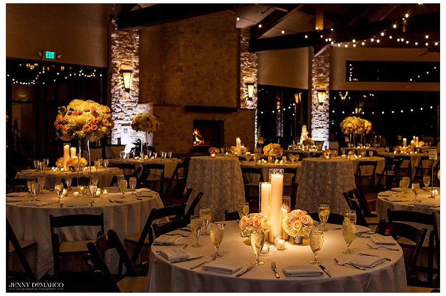 The elegant table settings at the pavilion of Barton Creek Square Resort.