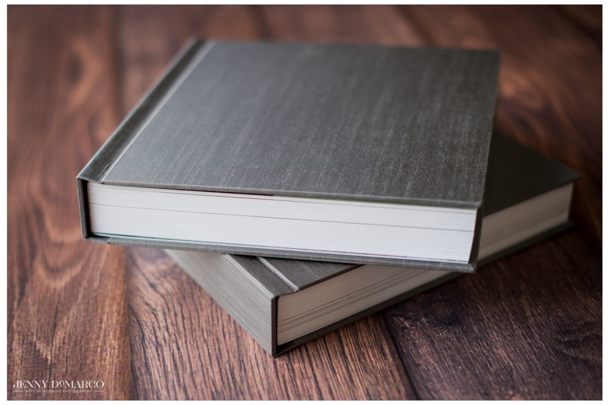 grey silk wedding albums