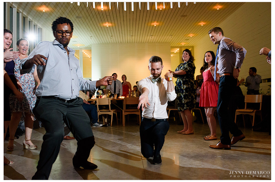 Serious dance moves during reception.