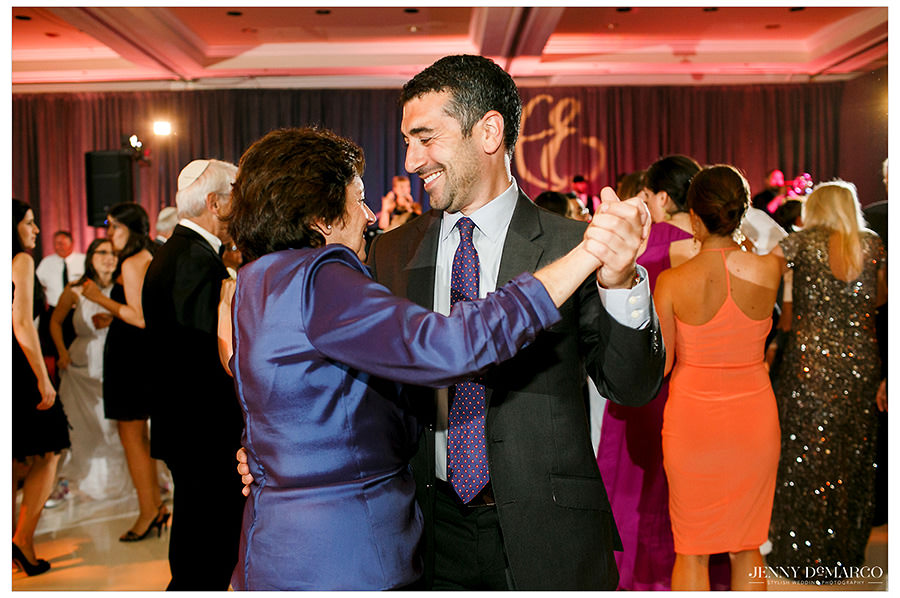 Guests dancing during the reception.