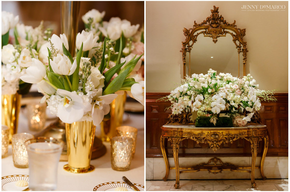Glamorous flower arrangements from David Kurio Designs