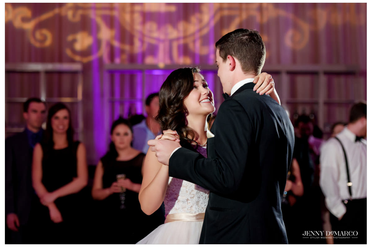 The first dance between the groom and the bride.