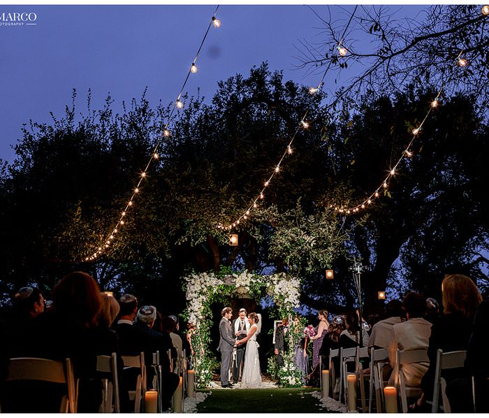 Romantic Jewish Wedding Ceremony at Night