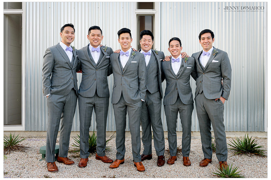 The groom and his five groomsmen.