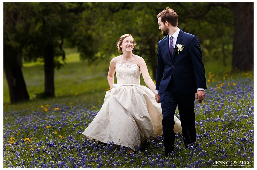 Hill Country Bluebonnet Wedding