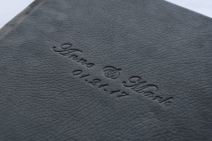 Luxe Leather Albums with Embossed Covers