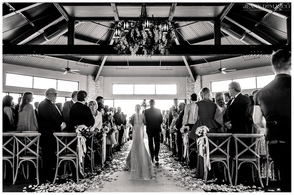 wedding ceremony at barton creek pavillion in austin, texas