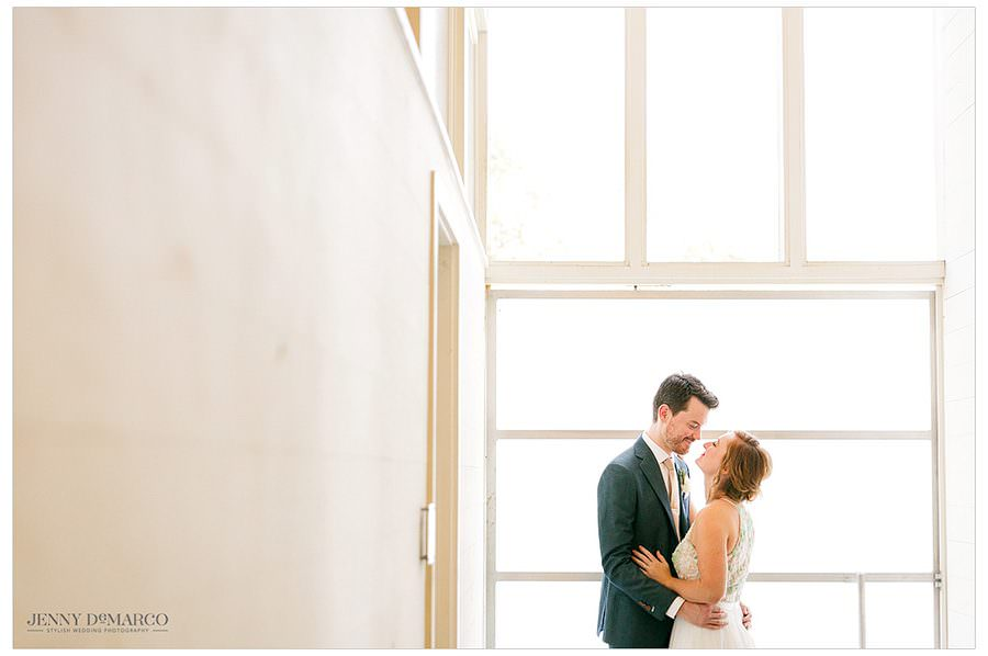 Bride and Groom share a sweet moment
