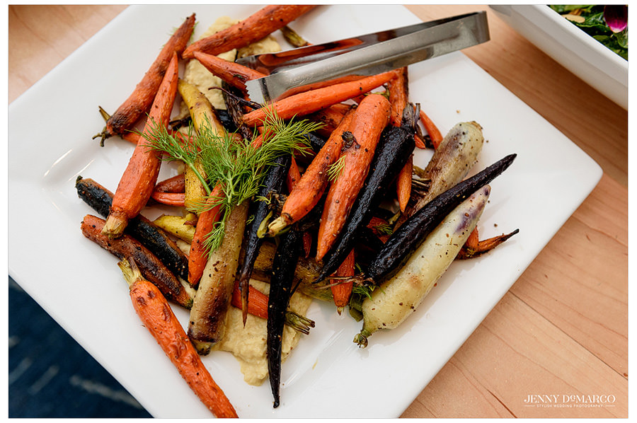 Roasted Carrots from the Vegetarian Wedding Menu from Kurant Events
