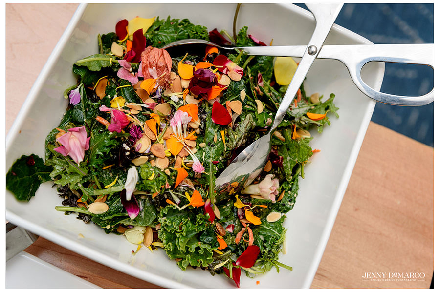 Kale Salad from the Vegetarian Wedding Menu from Kurant Events