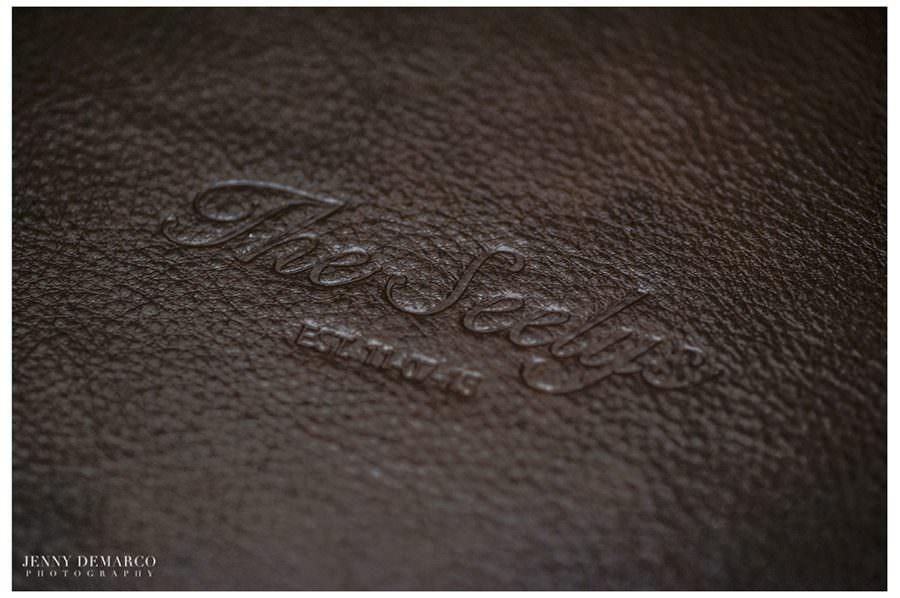 Dark Brown Leather album with Custom Embossing
