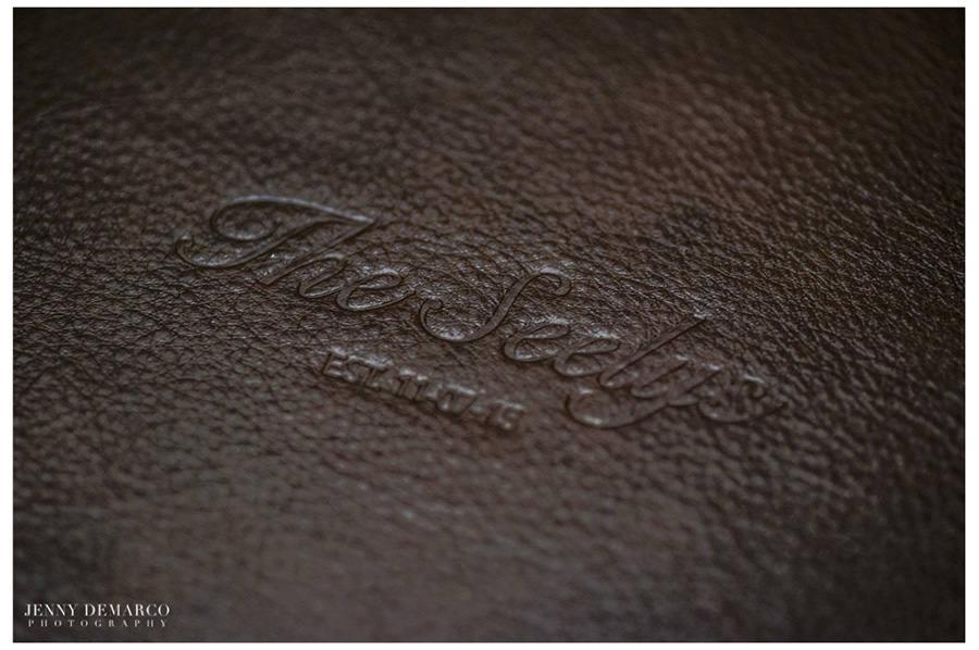 Dark Brown Leather album with Custom Embossing