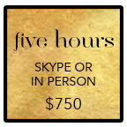 five hour mentoring package for $750