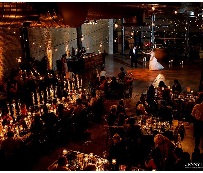 Evening Candlelight Wedding at 800 Congress