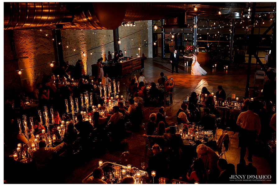 Evening Candlelight Wedding at 800 Congress