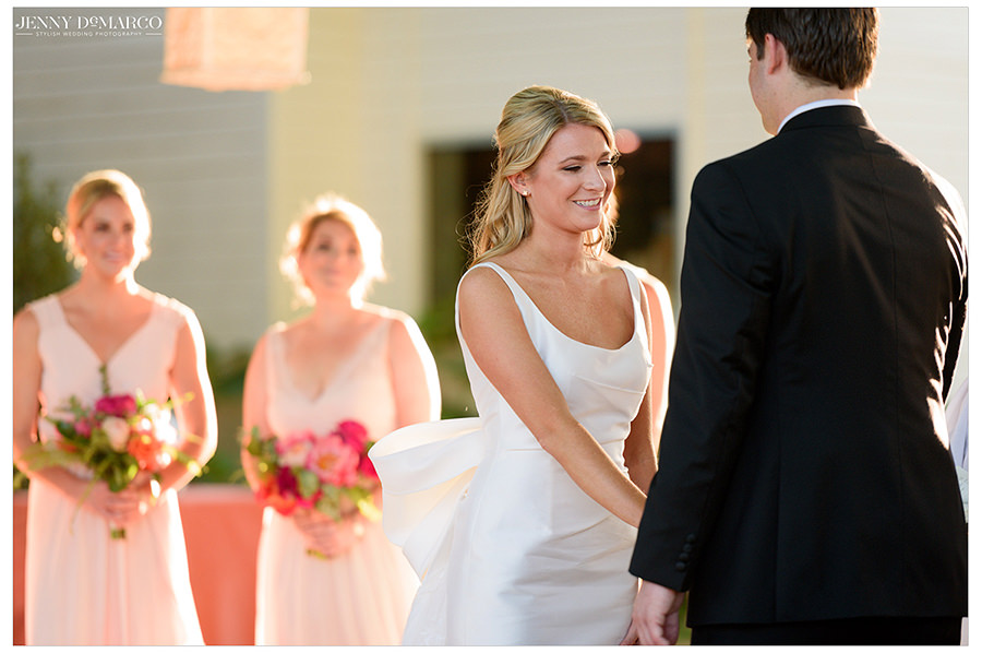 the bride and groom meet at the alter of the historic barr mansion
