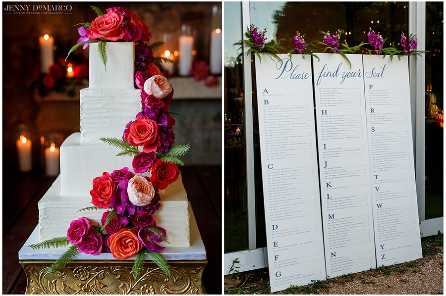 the colorful details of this elegant hill country wedding
