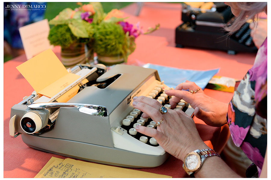 the typewriter rodeo creates sweet poems for wedding guests