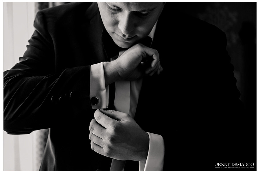 details of the grooms suit in a pre wedding shoot