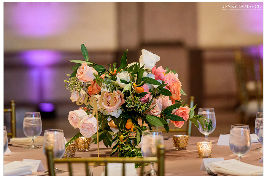 the details of the beautiful flower arrangements at the Bob Bullock wedding