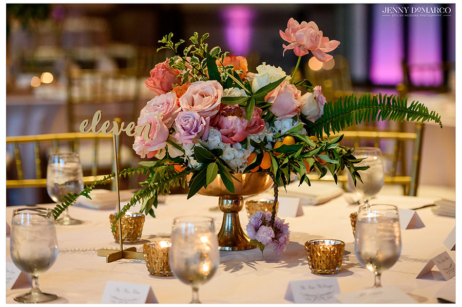colorful details of the centerpieces