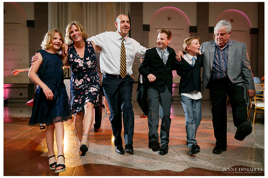 the family dance at the Bob Bullock Museum wedding