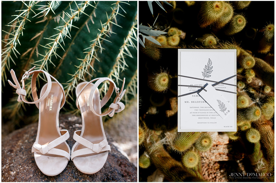 small and elegant details with native plants for wedding shoot