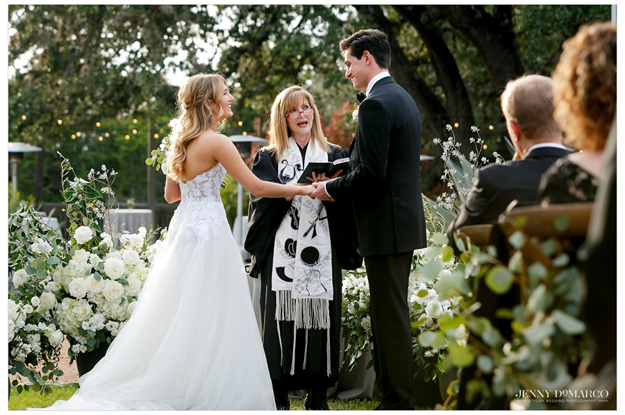 bride and groom share sweet moment in the heart of the hill country