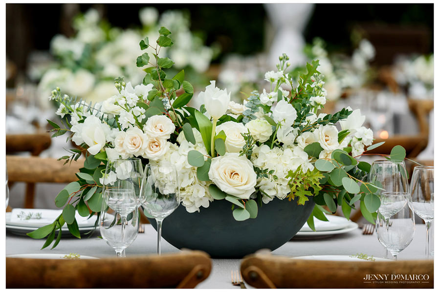 beautiful white flowers as the centerpiece in the heart of the hill country