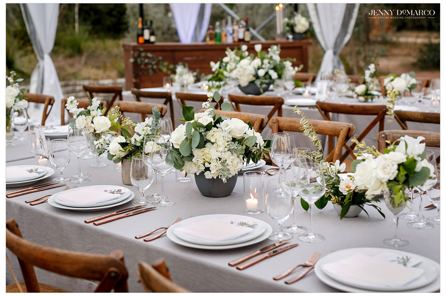 elegant and beautiful table setting