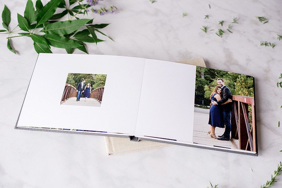 Guestbooks feature layflast edge to edge printings. Plenty of white space is left for guests to leave notes to the couple.