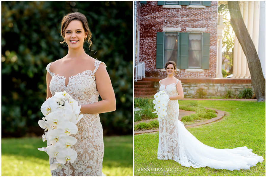 spring bridal in the front lawn of the historic woodbine mansion