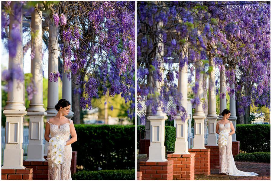 Bridal Portraits at The Woodbine Mansion