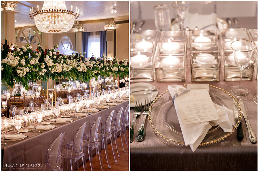the details of the table at The Austin Club wedding