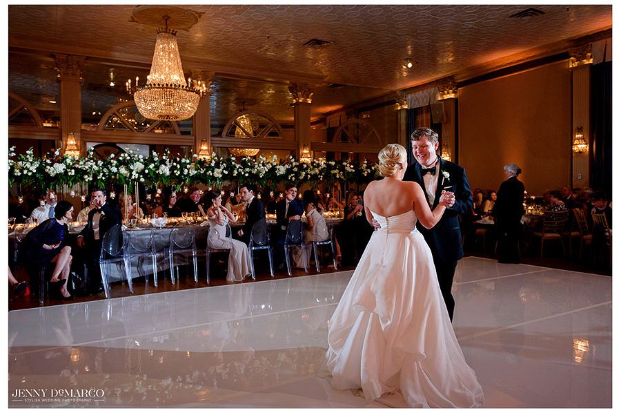 first dance of the beautiful wedding at The Austin Club