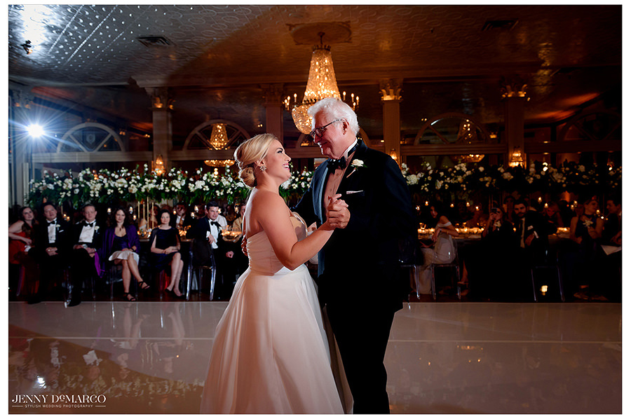 The bride and her father during their sweet dance