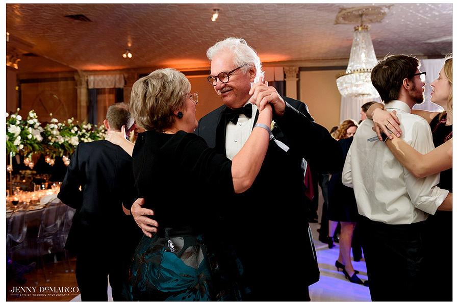 a sweet dance between the brides parents