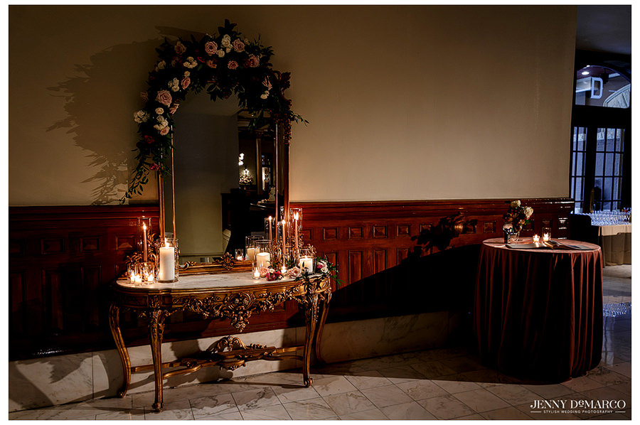 the candlelit details of the Driskill hotel