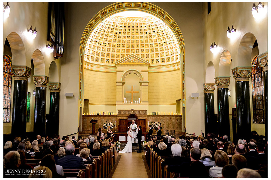 a beautiful wide shot of the ceremony