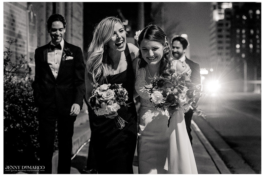 the bride and her sister share a touching moment