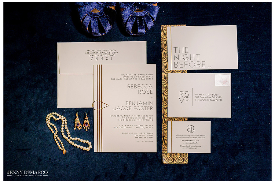 wedding stationary in detailed pre wedding shot